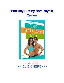 Half Day Diet Nate Miyaki pdf download