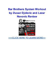 Bar Brothers System Workout