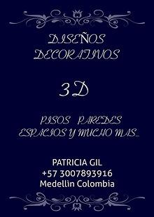 3D DISEÑOS DECORATIVOS, PANELES DE YESO  Y  PORCELANATO LIQUIDO
