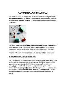 Condensadores, tipos y diodos