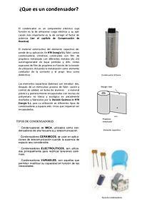 condensadores, diodos y tipos