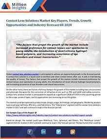 Contact Lens Solutions Market