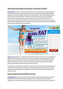 Keto Advanced Weight Loss Review: How Does it Work?