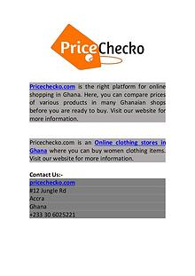 Online Clothing Stores in Ghana   Pricechecko.com