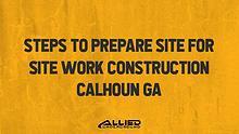 Site Work Construction
