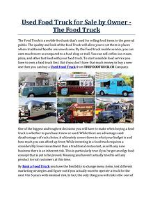 Used Food Truck for Sale by Owner - The Food Truck