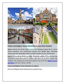 Visit Top Belgium Tourist Attractions with a Belgium Visa