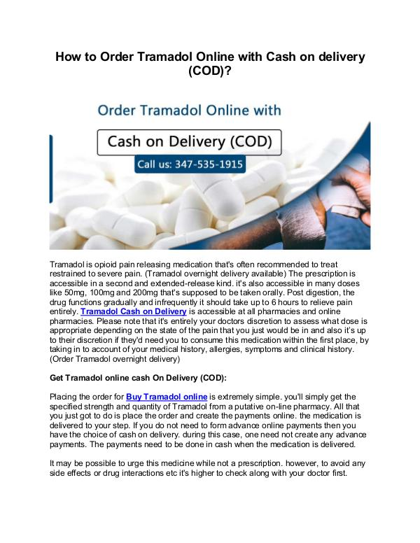 Buy Tramadol COD || Tramadol Cash On Delivery How to Order Tramadol Online with Cash on delivery