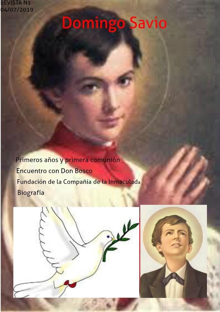 Domingo Sabio Primeros años y primera comunión Domingo Savio —«D