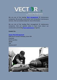 Fleet Management Company | Vector Fleet