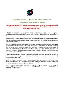 Business internationalization opportunities for Made in Italy
