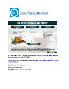 Tea & Tea Beverages Market: Global Market Size, Forecast to 2025