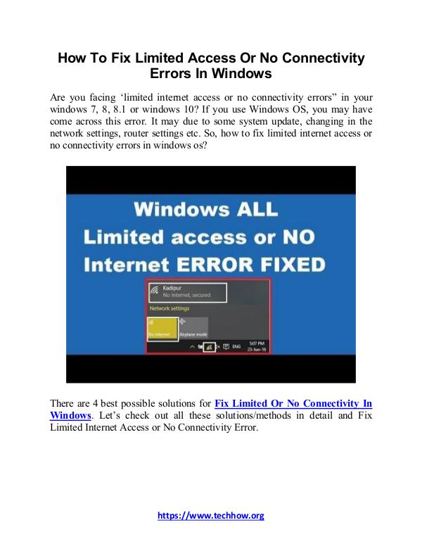 How to Fix Limited Access or No Connectivity Errors in Windows How To Fix Limited Access Or No Connectivity Error