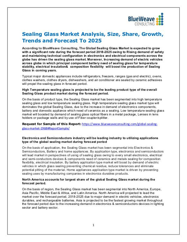 Sealing Glass Market Analysis, Size, Share, Growth & Forecast 2025 Sealing Glass Market Analysis