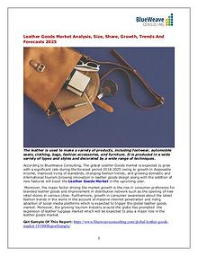 Leather Goods Market Analysis, Size, Share, Growth, Trends 2025