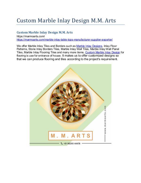 Custom Marble Inlay Design M.M. Arts Custom Marble Inlay Design M.M. Arts