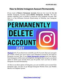 How To Remove Mobile Number From Instagram Account