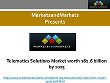 Telematics Solutions Market worth $62.6 billion by 2025