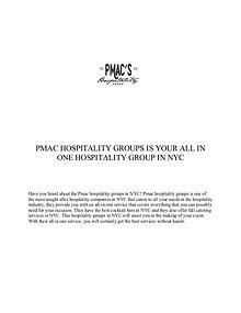 PMac's Hospitality Group