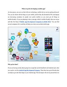Why go for a mobile app development service?