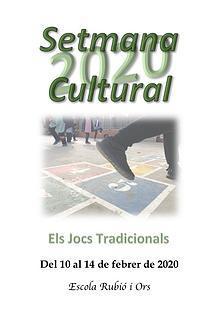 Els Jocs Tradicionals - Setmana Cultural 2020