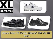 Need Size 15 Men's Shoes? Hit Up XL Feet