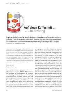 Auf einen Kaffee mit ... Jan Ernsting