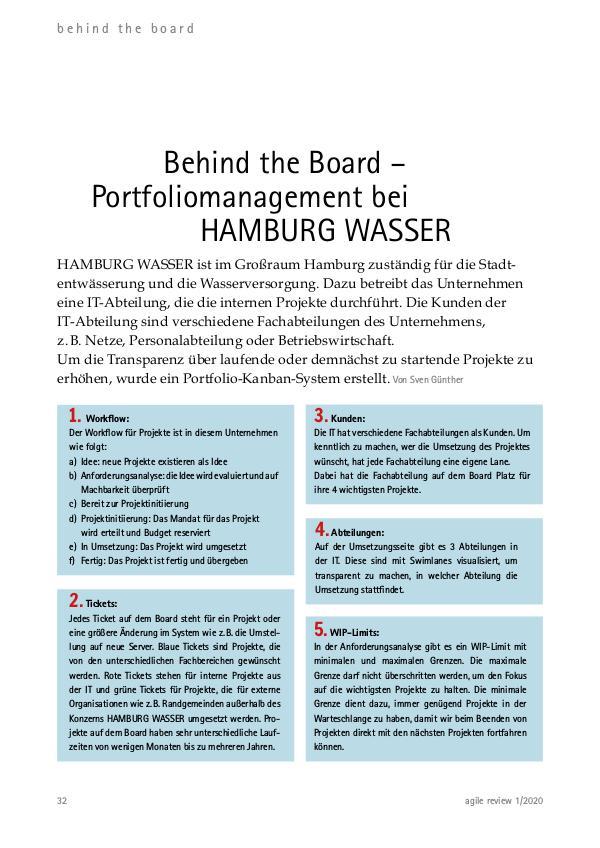 Behind the Board: Hamburg Wasser