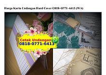 Harga Kartu Undangan Hard Cover O818·O771·6413[wa]