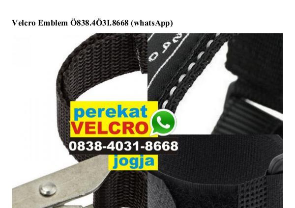 Velcro Emblem Ô838 4Ô31 8668[wa] velcro emblem