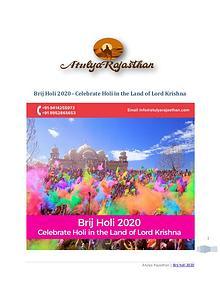 Brij Holi 2020 | Enjoy Grand Holi Revelries with loved ones