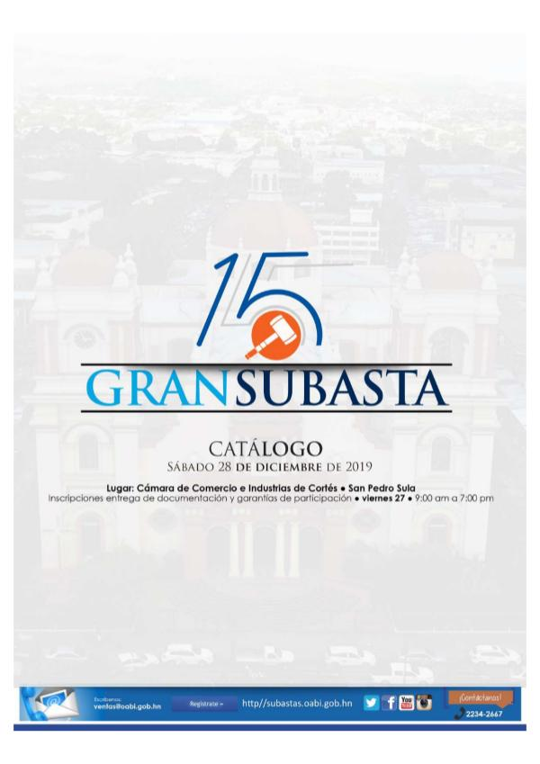 CATÁLOGO 15 GRAN SUBASTA OABI 28 DE DICIEMBRE