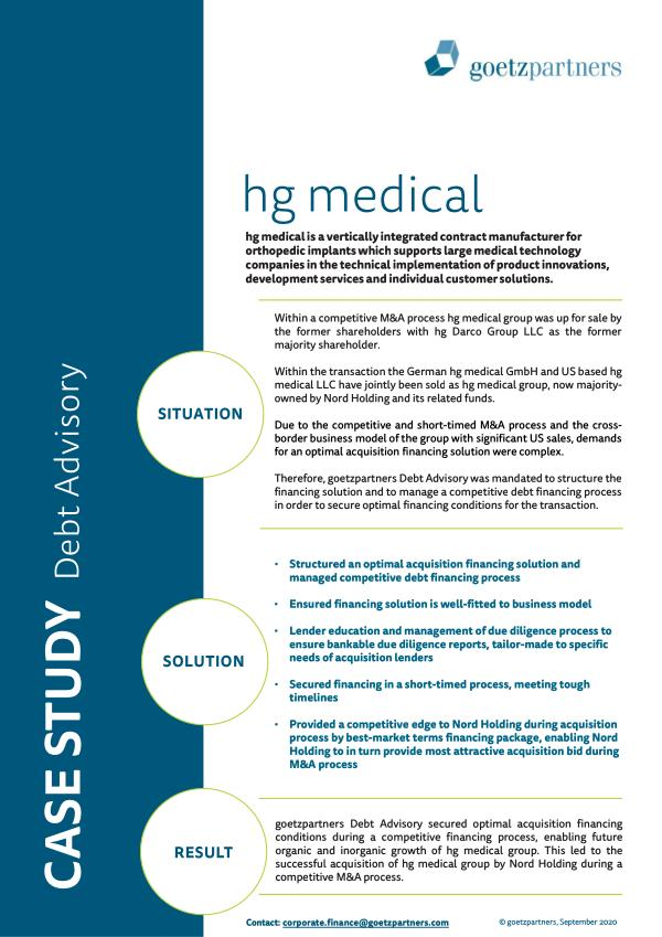 Client Case: hg medical