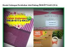 Desain Undangan Pernikahan Adat Padang 0818•0771•6413[wa]