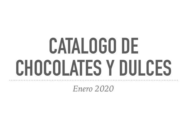 Catalogo de chocolates y dulces