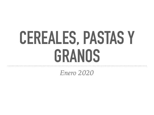 Cereales, pastas y granos