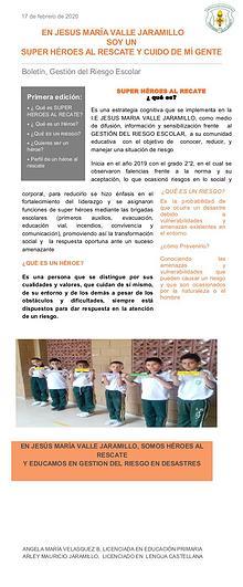 Campaña prevención del riesgo Escolar