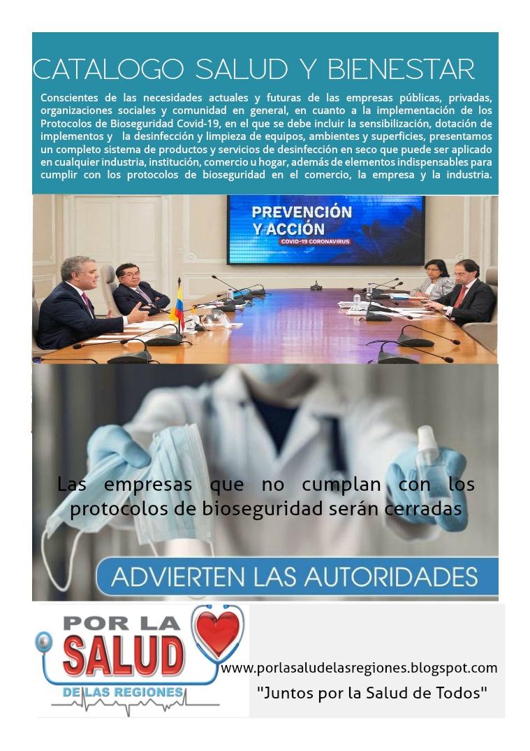 Catálogo productos y servicios Por La Salud
