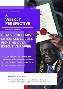 The Weekly Perspective with Oliver Mathenge