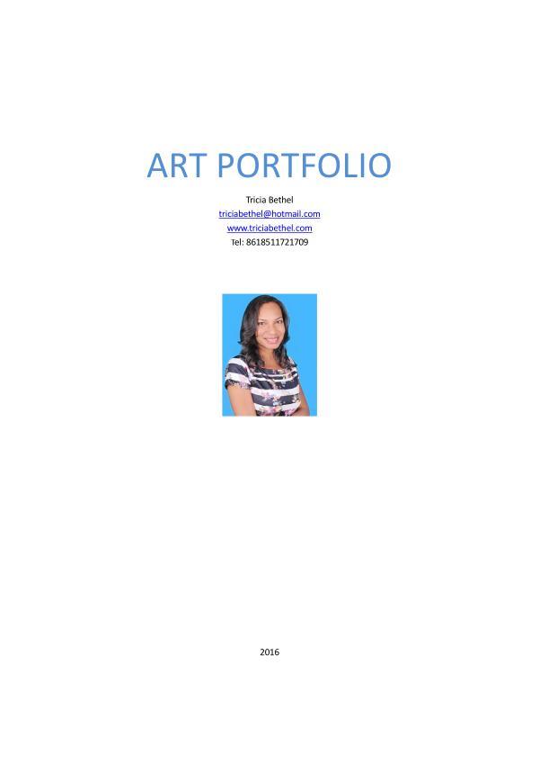 Paintings by Tricia Bethel depicting Caribbean Art